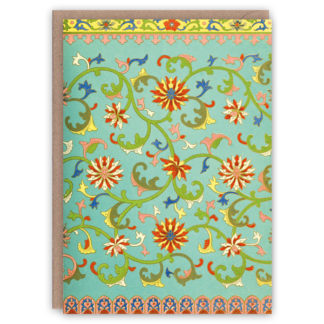 'Creeping Vines' – Chinese pattern greetings card by The Pattern Book