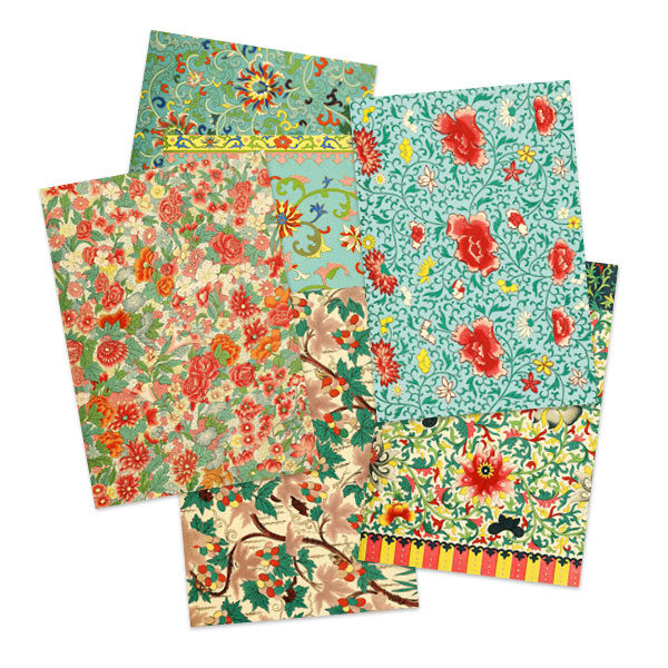 Selection of Chinese pattern greetings cards by The Pattern Book