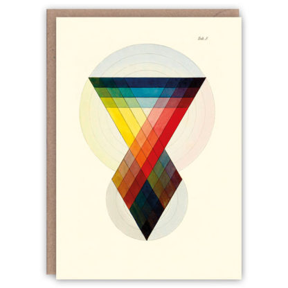 'Prismatics' – colour theory greetings card by The Pattern Book