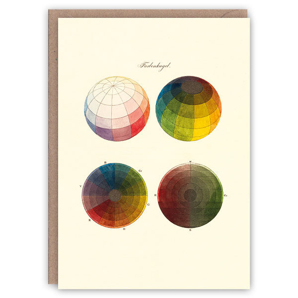 'Colour Spheres' – colour theory greetings card by The Pattern Book