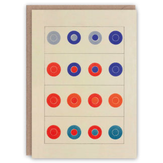 'Colour Contrasts II' – colour theory greetings card by The Pattern Book