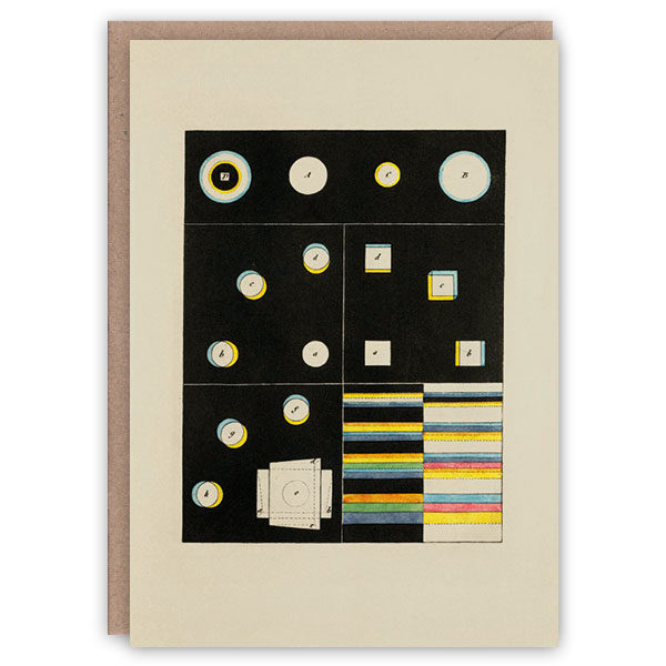 'Zur Farbenlehre, plate II' – colour theory greetings card by The Pattern Book