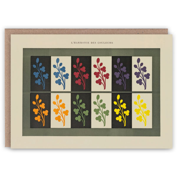 'L'Harmonie des Couleurs II' – colour theory greetings card by The Pattern Book