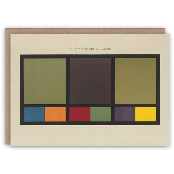'L'Harmonie des Couleurs I' – colour theory greetings card by The Pattern Book