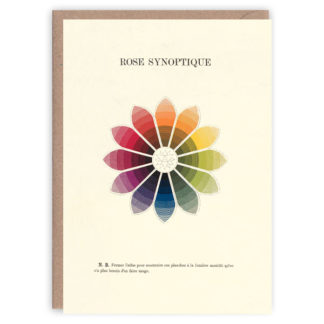 'Rose Synoptique' – colour theory greetings card by The Pattern Book