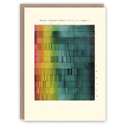 'Daylight' – colour theory greetings card by The Pattern Book