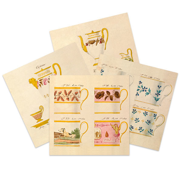Selection of French porcelain greetings cards by The Pattern Book.