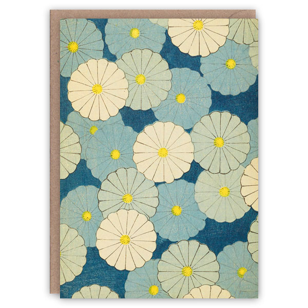'Waterlilies' – a Japanese greetings card by The Pattern Book