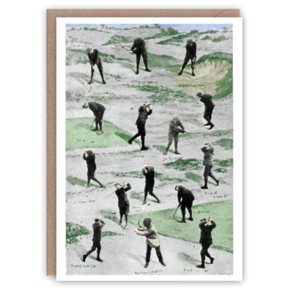 Golf – a vintage sports greetings card by The Pattern Book