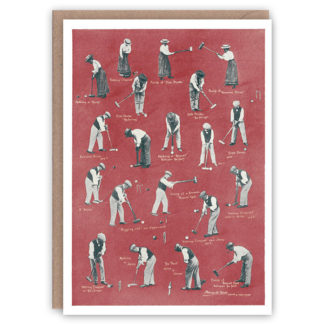 Croquet – a vintage sports greetings card by The Pattern Book
