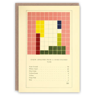 'Rose-Colored Vase' – colour problems greetings card by The Pattern Book