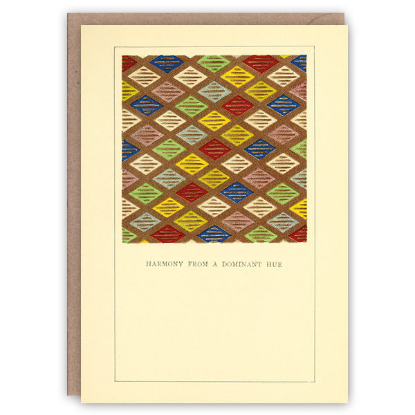 'Dominant Hue' – colour problems greetings card by The Pattern Book