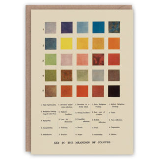 'Meanings of Colours' – Colour Theory greetings card by The Pattern Book