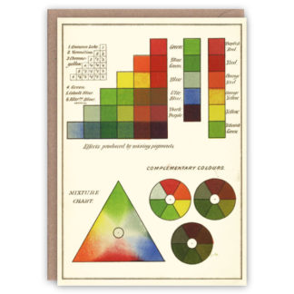 'Modern Chromatics' – Colour Theory greetings card by The Pattern Book
