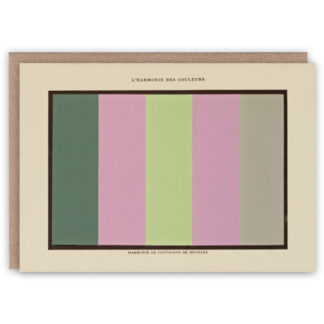 'L'Harmonie III' – Colour Theory greetings card by The Pattern Book