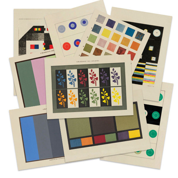 Selection of Colour Theory greetings cards by The Pattern Book